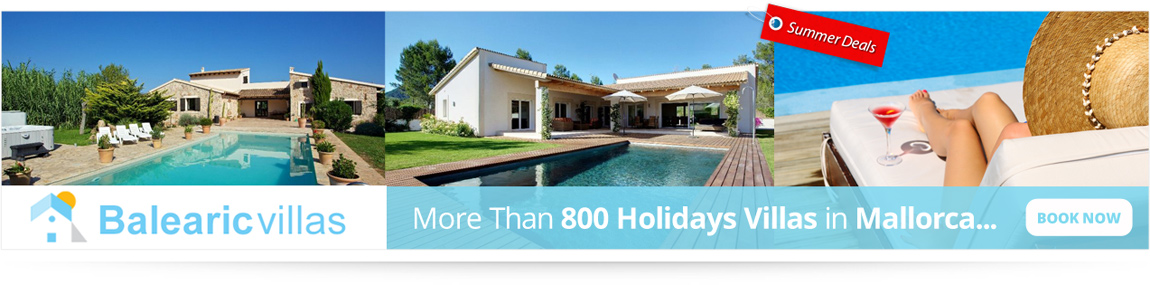 More Than 800 Holidays Villas in Mallorca... Book now