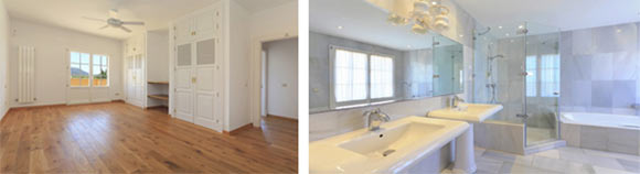Spacious bedrooms and bathrooms