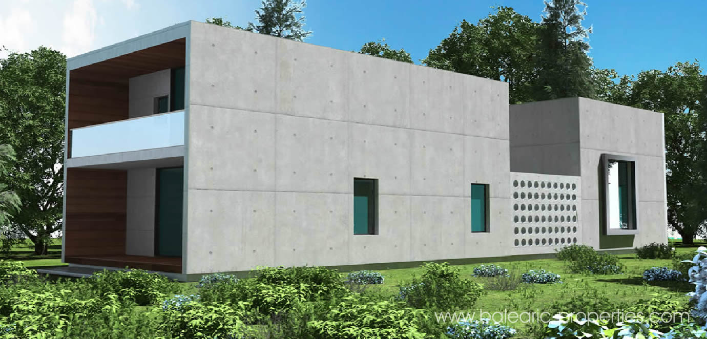 Concrete modular villas in mallorca a new concept for for Prefab concrete house
