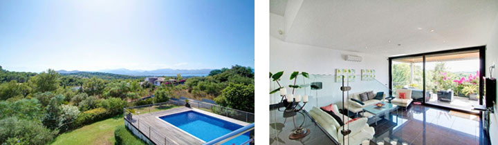 The house for sale in Bon Aire offers amazing views and a very modern interior