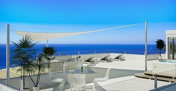 Luxury apartment for sale in Puerto Andratx with large terraces and garden