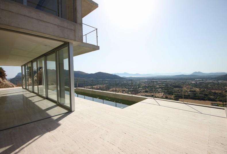 Die Aussicht von dieser Luxusvilla zu kaufen in Pollensa ist beeindruckend!