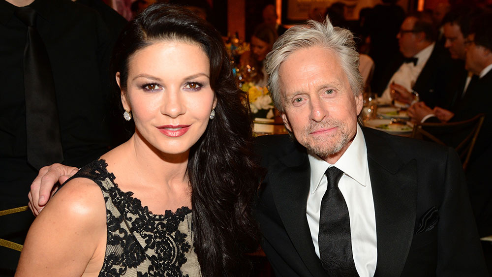 Michael Douglas and Catherine Zeta Jones in Majorca