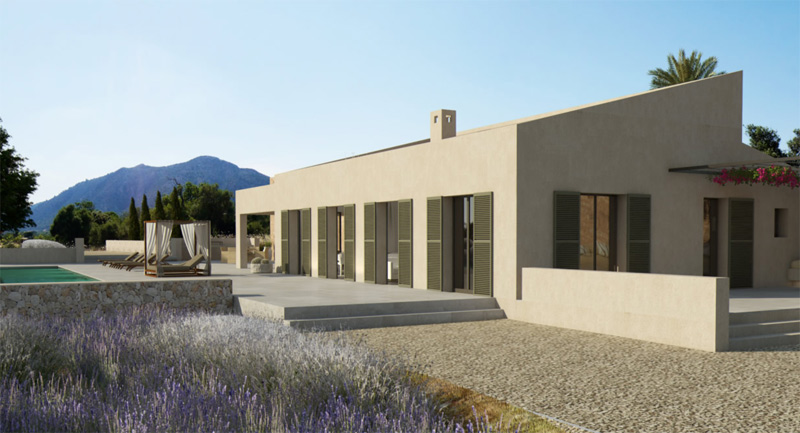 Pollensa modern country home