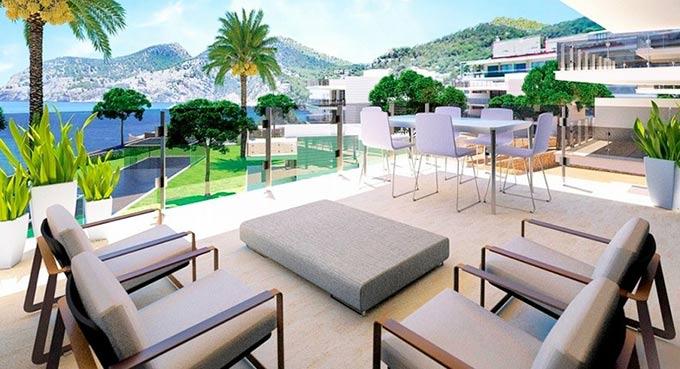 Eco-friendly, luxury beach apartments for sale in Camp de Mar, Puerto Andratx