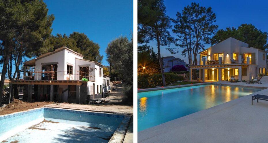 Renovated designed sea-view villa