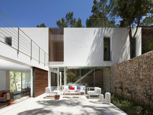 Villa modern architecture in Mallorca