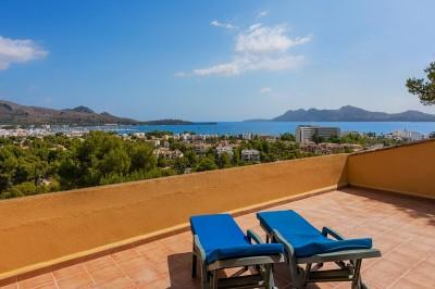 1,349 m2 plot with sea views for sale in Gotmar, Puerto Pollensa, Mallorca