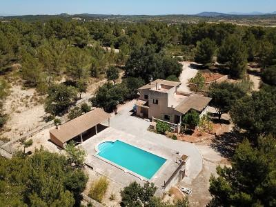 Finca with magnificent views of the countryside and mountains for sale in Campos, Mallorca