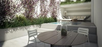 Town house with swimming pool with building licence for sale, in Pollensa, Mallorca