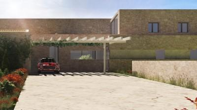 Render Driveway and Facade