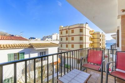 Three bedroom apartment for sale just 50m from the beach in Puerto Pollensa, Mallorca