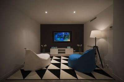 cinema room at night