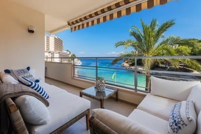 Modern apartment with amazing sea views for sale in Cala Vinyes, Mallorca