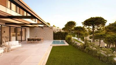 Modern villas and duplex in semi-detached houses for sale in Cala Vinyes, Mallorca