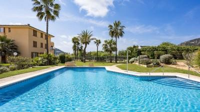 Bright ground floor apartment for sale in popular community of Port Andratx, Mallorca