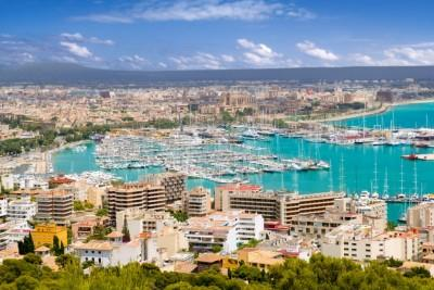 Aerial view of Palma de Mallorca