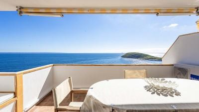 Frontline three bedroom apartment with sea views for sale in Torrenova, Mallorca