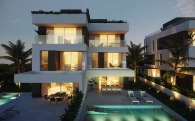Offplan villa on an exclusive complex for sale in Porto Colom, Mallorca