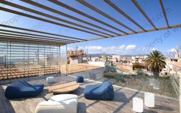 Penthouse with sea views in Palma, Mallorca