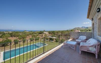 Stunning, sea view country property for sale near Colonia San Pere, Mallorca