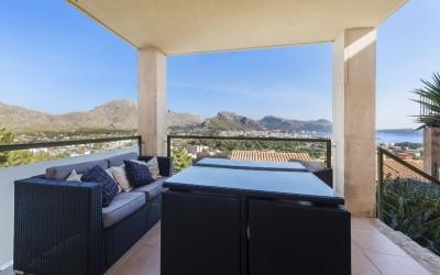 Detached house with panoramic views for sale in Puerto Pollensa, Mallorca