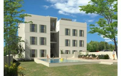 Apartment project within walking distance of town for sale in Puerto Pollensa, Mallorca