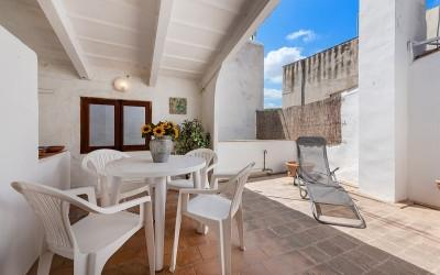 Two bedroom town house with Mallorcan interiors for sale in Pollensa, Mallorca