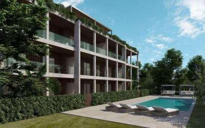 Three bedroom penthouse in new apartment building for sale in Puerto Pollensa, Mallorca