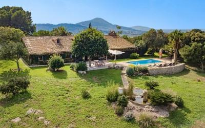 Sea view finca for sale in the peaceful countryside of San Lorenzo, Mallorca