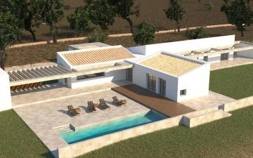 Rustic Plot of land with Construction started in Pollenca