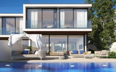 Contemporary style villa with sea views for sale in Alcanada, Alcudia, Mallorca