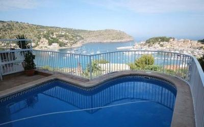 Nice house with beautiful views and pool in Puerto de Sóller, Mallorca