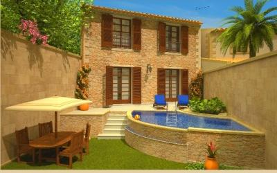 Plot with town house project for sale in Pollensa, Mallorca