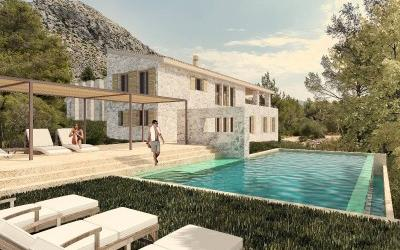 Fantistic plot with project for sale in the Pollensa, Mallorca
