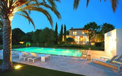 Villa Llenaire is a modern country villa available for rent near Pollensa, Mallorca