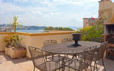 Townhouse with sea view in the sought after area of Cas Català, Mallorca
