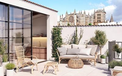 Impressive penthouse with views of the cathedral for sale in Palma, Mallorca