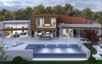 Super-stylish contemporary villa project for sale in Port Andratx, Mallorca
