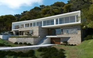 Impressive modern villa project for sale in Sol de Mallorca