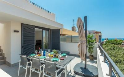 Triplex penthouse with sea views for sale in Portixol, Mallorca