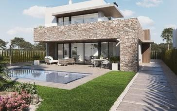 Residential complex of villas with private pools for sale near Es Trenc, Mallorca