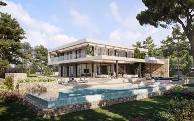 Luxury villa for sale, next to the golf course in Santa Ponsa, Mallorca
