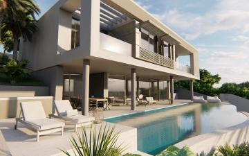 Contemporary villa with sea views for sale in Portals Nous, Mallorca