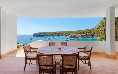 Frontline villa for sale with optional mooring in Portals Vells, Mallorca
