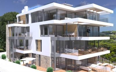 Modern apartment with private terrace for sale in Sant Agusti, Mallorca