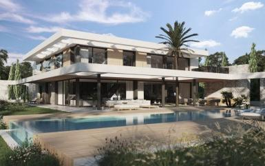 New villa project for sale, first line to the golf course in Santa Ponsa, Mallorca