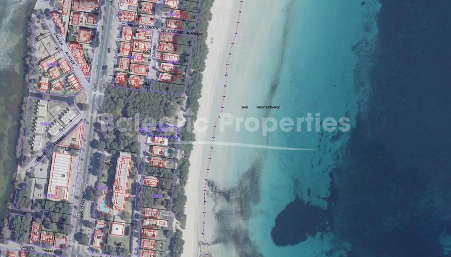 Front line plot for sale in Playa de Muro Mallorca