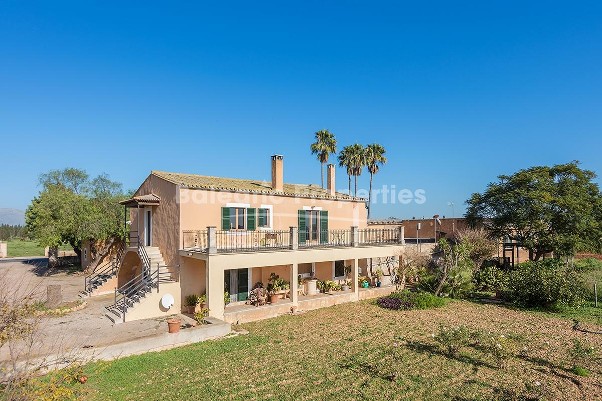 Mallorcan country home with stunning countryside views for sale in Inca, Mallorca