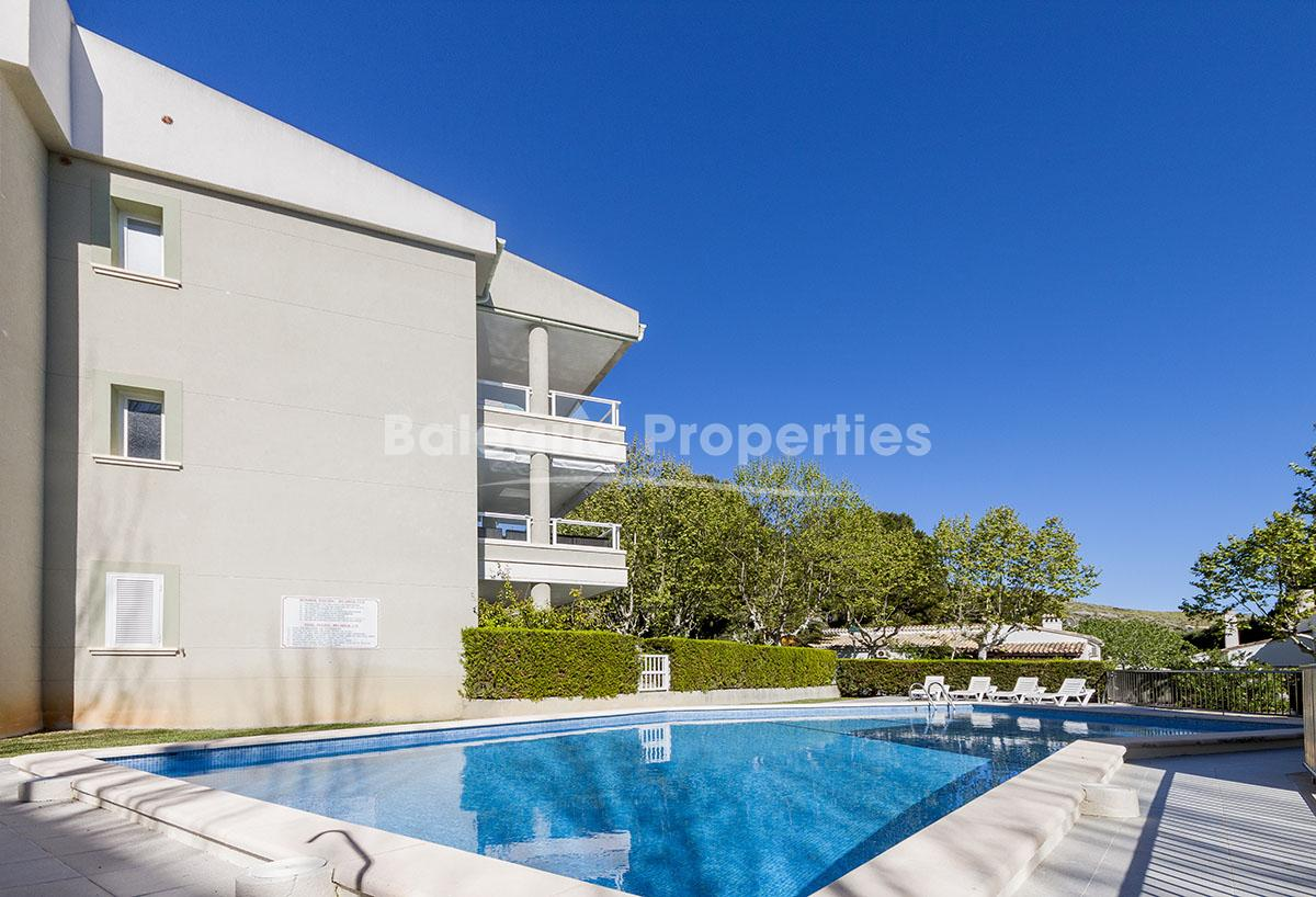 Lovely ground floor apartment with mountain views in Pinewalk, Puerto Pollensa